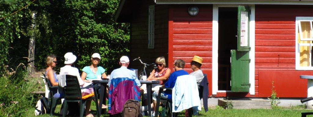 En af sommerens mange studiegrupper!