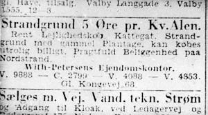 Prisen for grunden ved Klint var kun fem øre pr. kvadratalen!