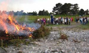 Sankthansaften - bålet på stranden